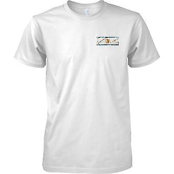 Effetto di Grunge Argentina di bandiera nome paese - petto Mens t-shirt Design
