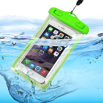ONX3 (Green) Universal Transparent Mobile Phone , Passport, Money Underwater Waterproof Swimming Pool, Ocean Protection Bag Touch Responsive For  Xiaomi Mi Mix 2S