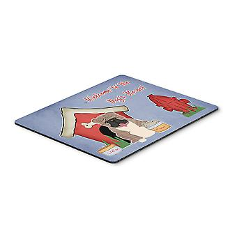 Dog House Collection English Bulldog Grey Brindle  Mouse Pad, Hot Pad or Trivet