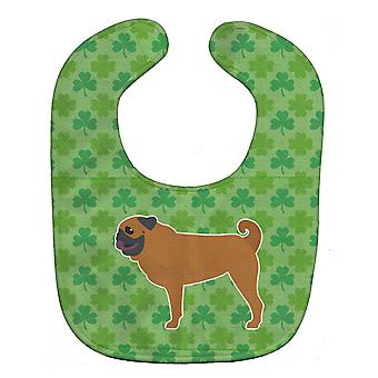 Carolines Treasures  BB6452BIB Pug Shamrocks  Baby Bib