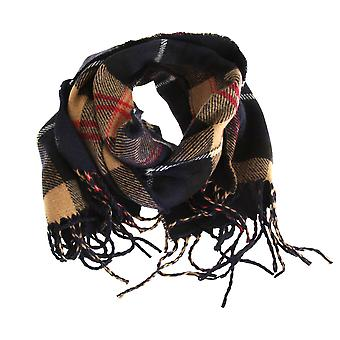 Tom Franken Mens Check Tartan drucken Winter Schal