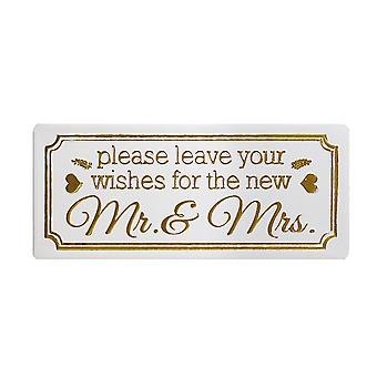 Heaven Sends New Mr & Mrs Wishes Sign