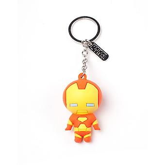 Iron Man Character 3D Pendant Rubber Keychain Multi-Colour Keyring Multi-colour