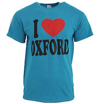 Mens I Love Oxford Short Sleeve Cotton T-Shirt