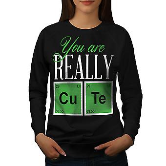 Cute Chemistry Geek Women BlackSweatshirt   Wellcoda