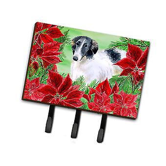 Carolines Treasures  CK1320TH68 Borzoi Poinsettas Leash or Key Holder