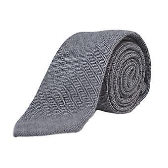 Silver Grey Herringbone Tie, Necktie