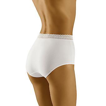 Wolbar Women's Eco-Go White Full Panty Highwaist Brief