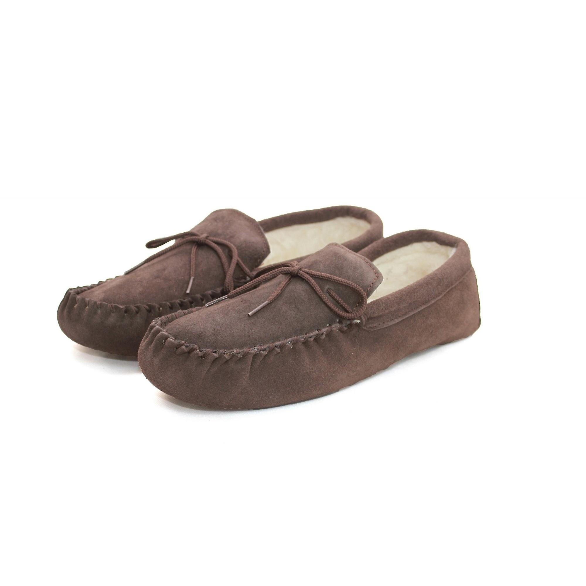 blend Eastern Counties Sole Wool Moccasins Leather Unisex Soft 7xRqvOx