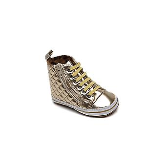 Replay Heritage Gold Metallic Baby Girls High Top First Shoes