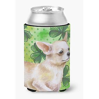 Carolines Treasures  BB9871CC Chihuahua Leg up St Patrick's Can or Bottle Hugger