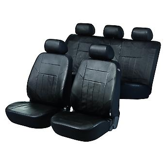 Soft Nappa car seat cover-Black Artificial leather For Volkswagen POLO 1981-1994