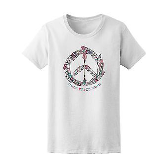 Bohemian Pacific Sign Hippie Art Tee Women's -Image by Shutterstock