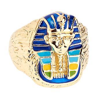 Glacé bague concepteur d'hip-hop bling - Pharaon gold