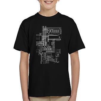 ZX Spectrum Computer Schematic Kid's T-Shirt