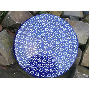 Naczynie na ciasto niebieski 33 x 3 cm, Bolesławiec, BSN J-978