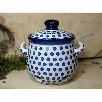 Garlic pot 900 ml, height 15 cm, tradition 24, boleslawiec aardewerk, BSN 7772