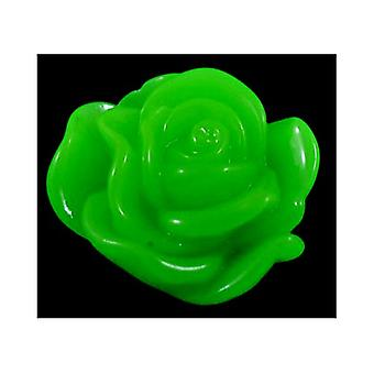Packet 30 x Green Resin Flat Back 13mm Flower 4mm Thick Cabochon Y03975