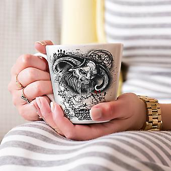 Devil Satan Hell Skull NEW White Tea Coffee Ceramic Latte Mug 17 oz | Wellcoda