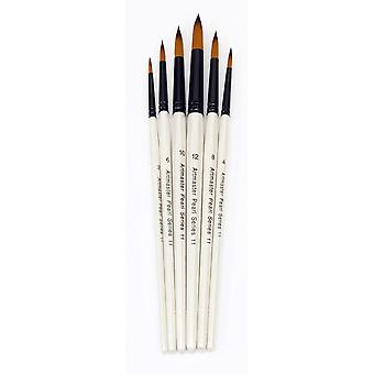 Artmaster Pearl Watercolour Paint Brush Wallet of 6