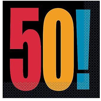 50. Geburtstag-Cheer-Servietten