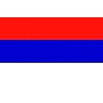 Serbien Flag 5 ft x 3 ft (100% Polyester) med øjer til ophæng