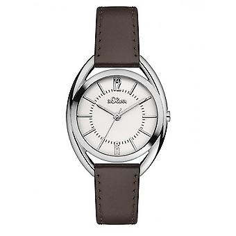 s.Oliver women's watch wristwatch leather SO-3161-LQ