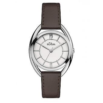 s.Oliver Damen Uhr Armbanduhr Leder SO-3161-LQ