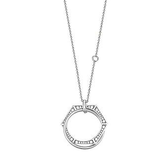 Joop women's chain necklace silver cubic zirconia Lana JPNL90758A450