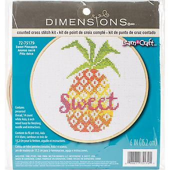 Sweet Pineapple Counted Cross Stitch Kit-6