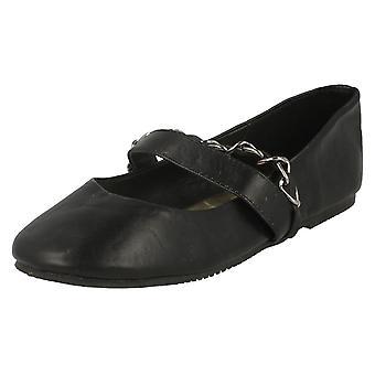 Jenter Cutie flate sko med Bar kjede