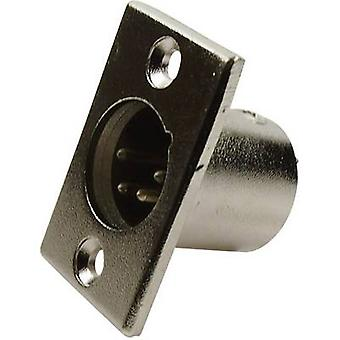 Cliff FC6125 XLR connector Sleeve plug, straight pins Number of pins: 4 Silver 1 pc(s)