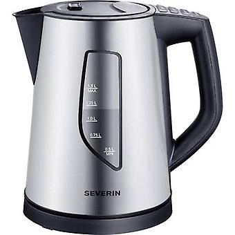 Severin WK 3342 Kettle cordless, Temperature pre-set Stainless steel
