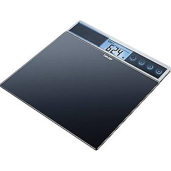 Digital bathroom scales Beurer GS 39 Weight range=150 kg Black