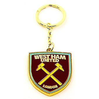 West Ham New Crest Metal / Enamel Keyring