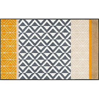 wassen + droge mat Alvar 75 x 120 cm wasbaar vuil mat
