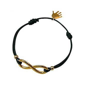 -Bracelet - WISHES - INFINITY - gold - grey