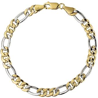 Armband 333 /-GW armband geel goud wit goud armband goud gecombineerd