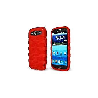 Sprint Rugged Slider Skin Case Cover Samsung Galaxy Siii (Red) - SAL710SSRRD-Z