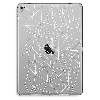 iPad Pro 9,7 pulgadas caja transparente (suave) - líneas geométricas blanco