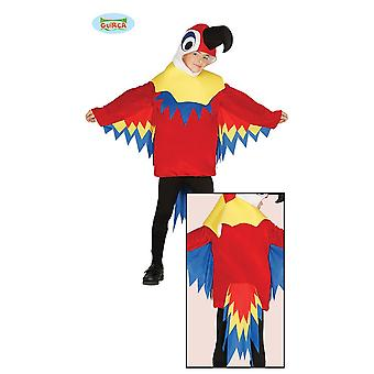 Guirca colorido traje de ave loro carnaval carnaval fiesta temática para niños
