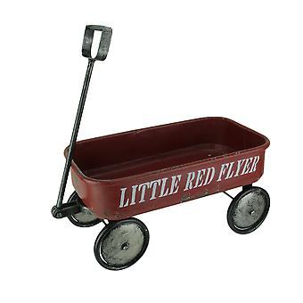 Decorativo poco rojo Flyer Wagon Metal 18 pulgadas