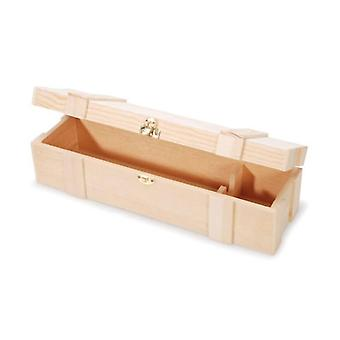 Best Quality Wooden Wine Gift Box & Clasp - Holds One Bottle