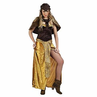Medeltida drottning Amazon damer kostym Princess Queen dress damer kostym Toda