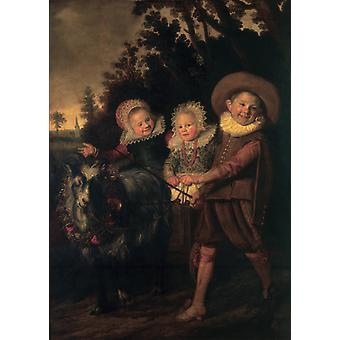 The Group of Children, Frans Hals, 40x60cm with tray