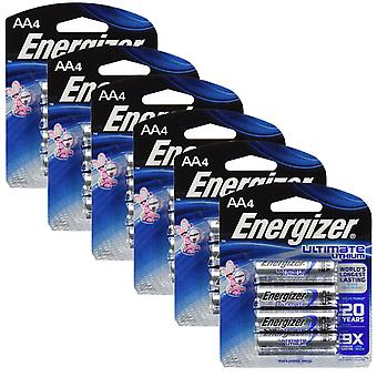 Energizer L91 (6 Packs) Ultimate Lithium Battery AA Size