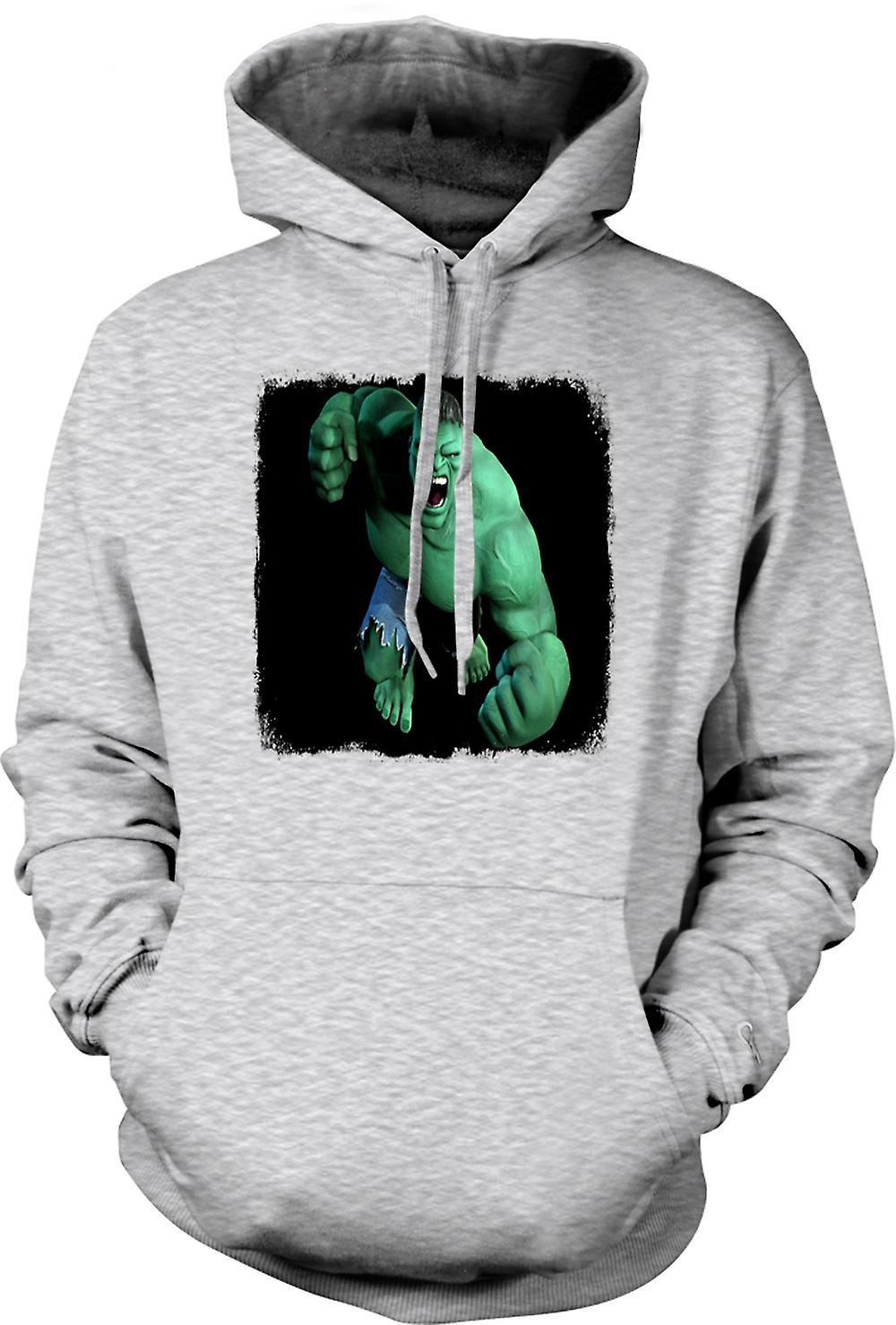 Mens Hoodie - Incredible Hulk - vuist
