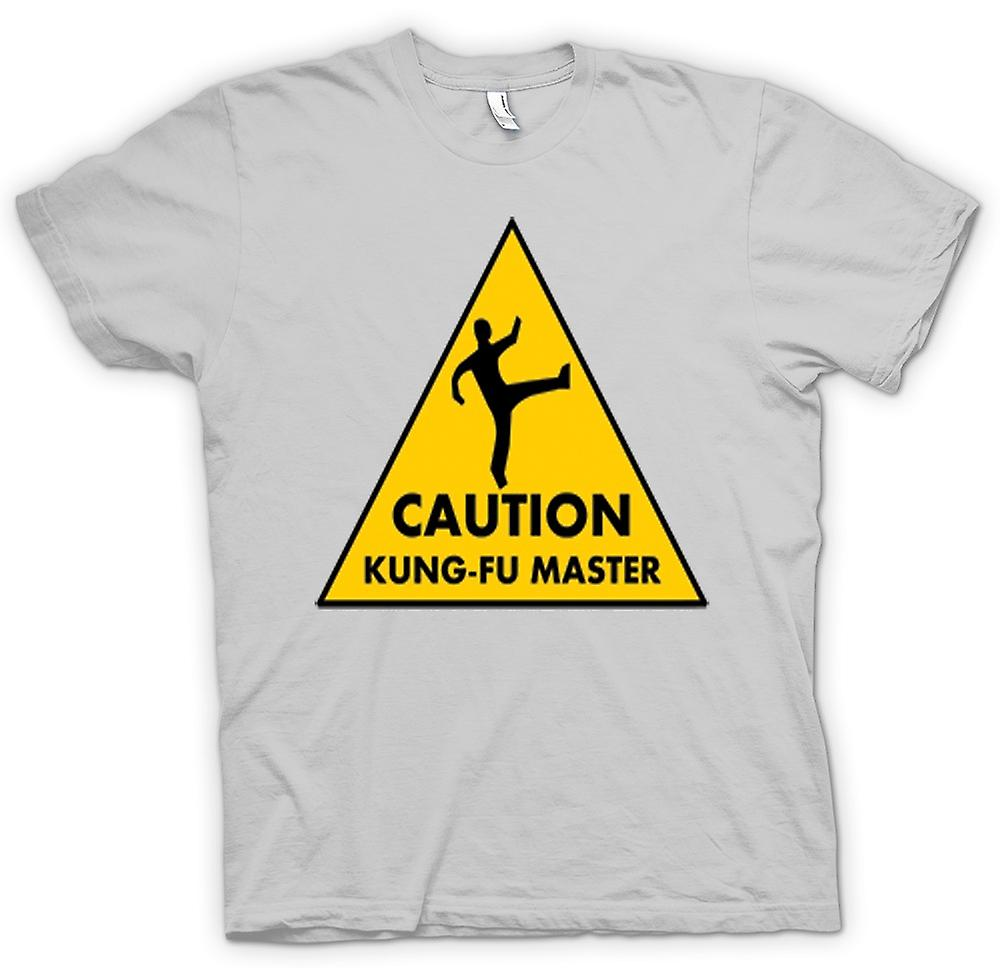 Hommes T-shirt - Attention - Kung Fu Master Warning Sign