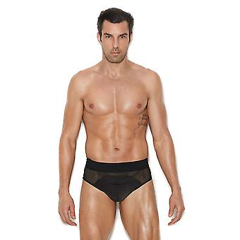 Mens Mesh and Lycra Black Jock Strap Underwear Brief