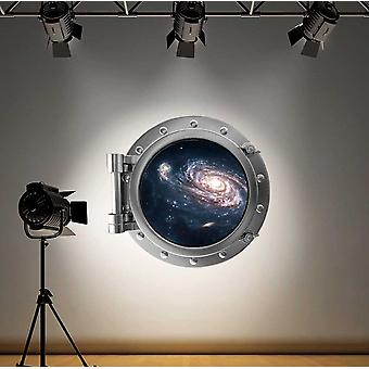 Full Colour Galaxy Space Porthole Wall Sticker